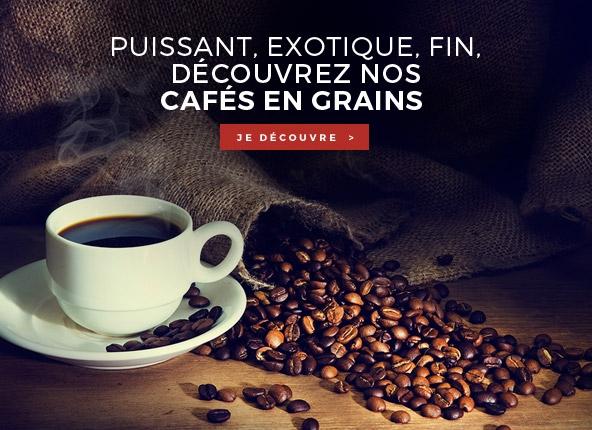 Puissant, exotique, fin, découvrez nos cafés en grains